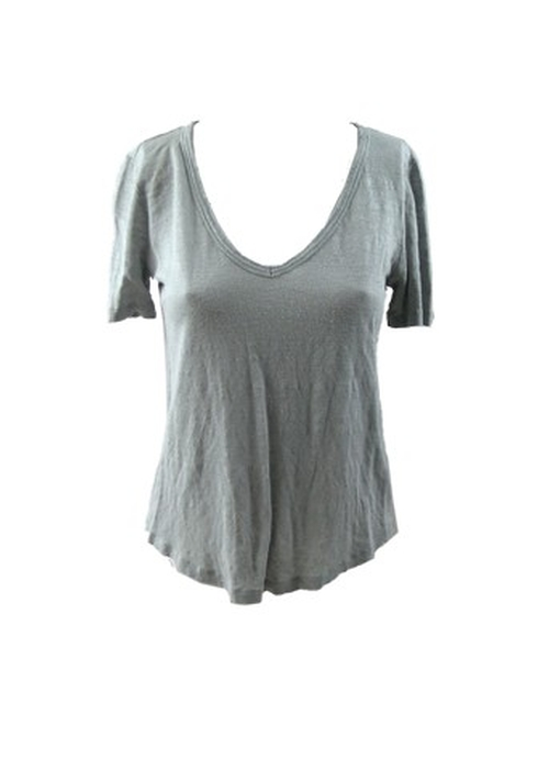 Deep V-Neck Weave Shirt by Banana Republic in Love the Coopers