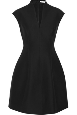 Cotton And Silk-blend Faille Mini Dress by Halston Heritage in Elementary