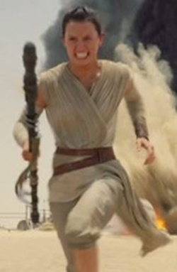 Custom Made Linen Wrap Top by Michael Kaplan (Costume Designer) in Star Wars: The Force Awakens