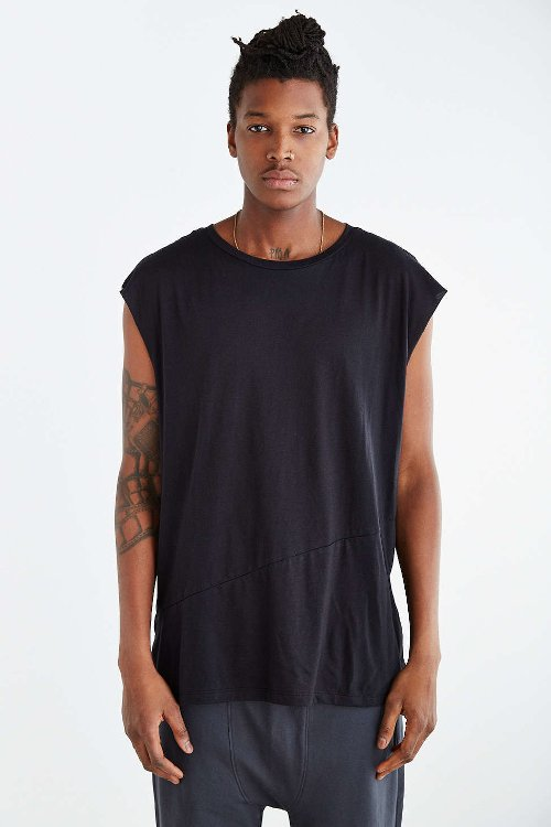 Feathers Angled Muscle Tank Top by Urban Outfitters in Get Hard