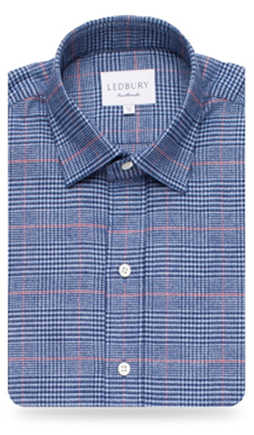 The Levy Microcheck Flannel Shirt by Ledbury in The Mindy Project