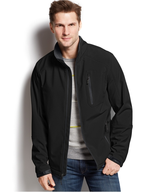 Full-Zip Softshell Jacket by Calvin Klein in Thor