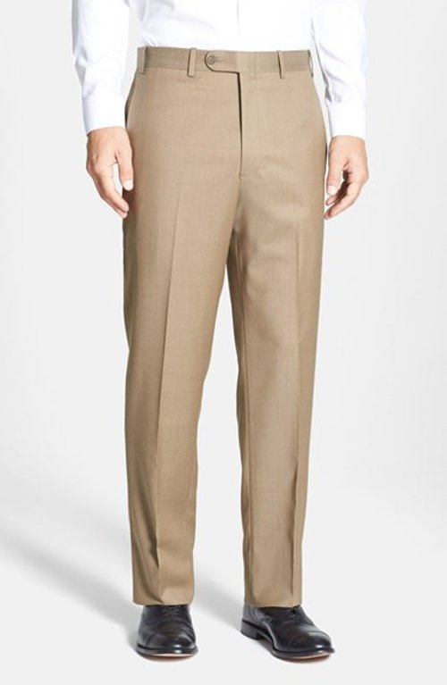 Torino Flat Front Wool Trousers by JB Britches in The Best of Me