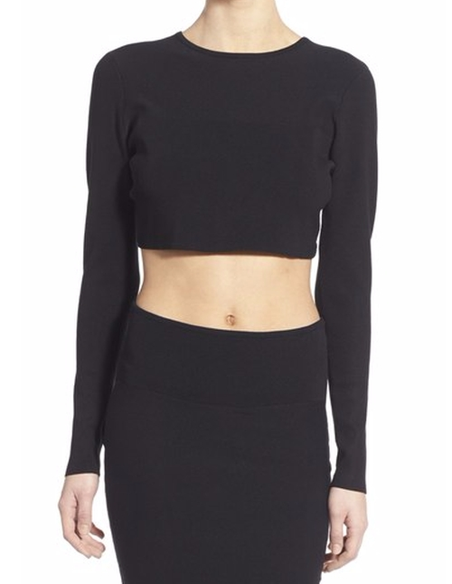 Crop Knit Sweater by Kendall + Kylie in Keeping Up With The Kardashians - Season 12 Episode 1
