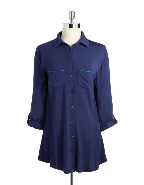 Button-Down Sleep Shirt by Splendid in Ride Along