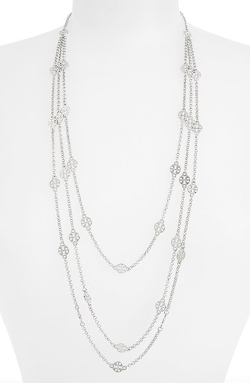 Multistrand Logo Station Necklace by Tory Burch in The Last Witch Hunter