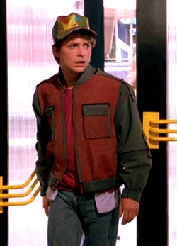 Custom Made Auto-Adjusting And Auto-Drying Jacket (Marty) by Joanna Johnston (Costume Designer) in Back To The Future Part II