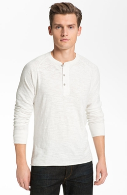 Raglan Henley Shirt by Rag & Bone in Billions