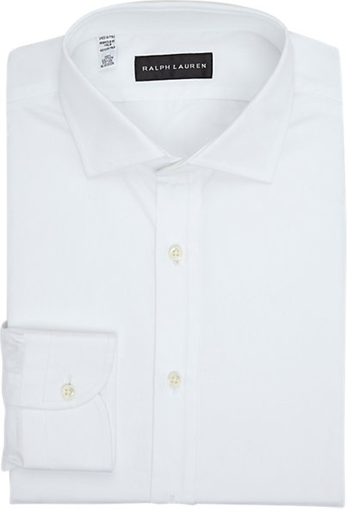 Solid Dress Shirt by Ralph Lauren Black Label in Suits