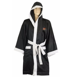 Satin Full Length Boxing Robe by Playwell in Hands of Stone