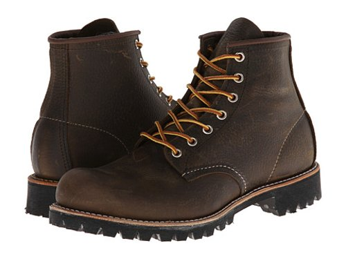 "Heritage 6"" Round Toe Lug Boots by Red Wing in Vice"