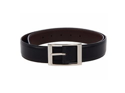 Reversible Aniline Leather Belt by Torino Leather Co. in The Accountant