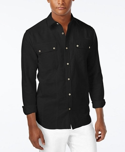 Men's Lightweight Linen Long-Sleeve Shirt by Sean John in The Notebook