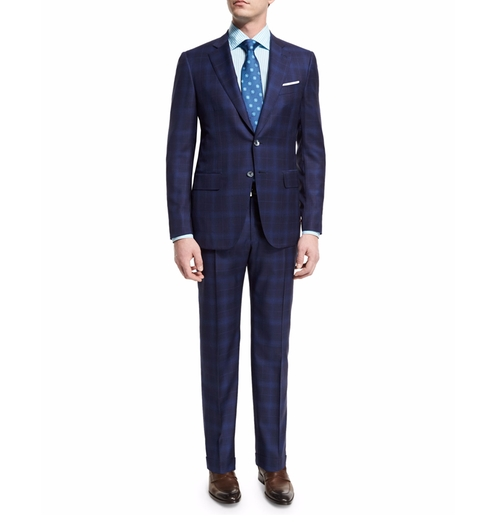 Super 140s Plaid Suit by Isaia  in The Boss