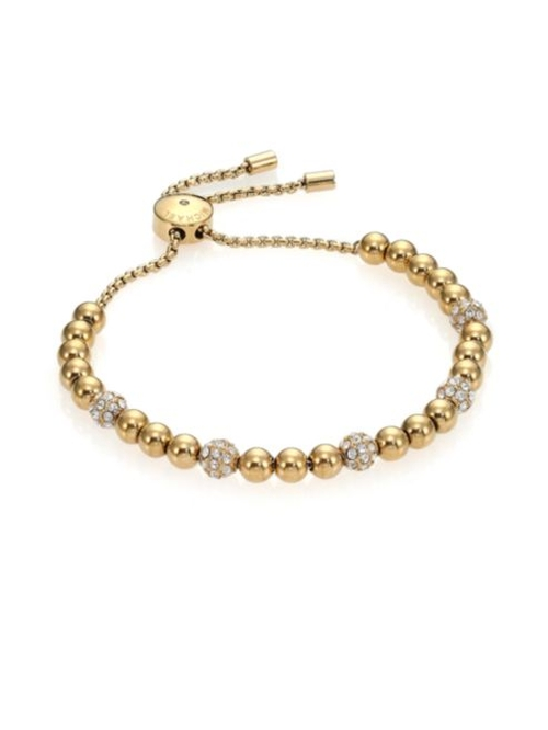 Brilliance Pavé Beaded Slide Bracelet by Michael Kors in Chelsea