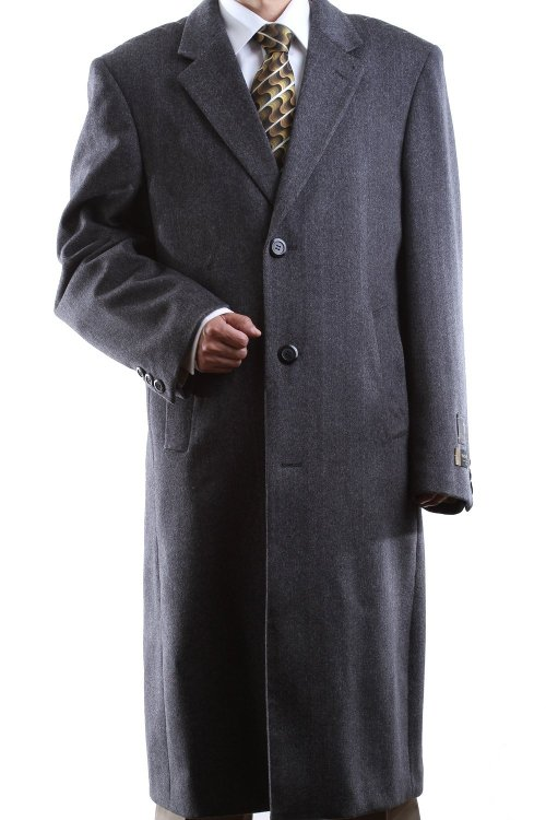 Cashmere Full Length Topcoat by Prontomoda in Birdman