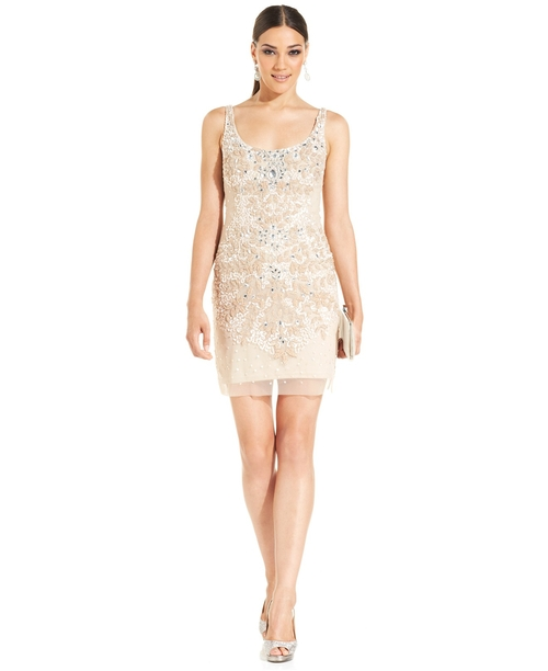 Floral Embellished Sheath Dress by Adrianna Papell in Sex and the City