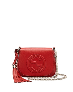 Soho Leather Chain Crossbody Bag by Gucci in Pitch Perfect 2