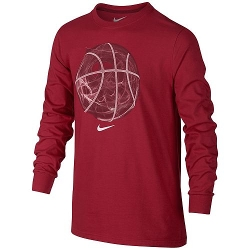 Smoke Basketball Tee by Nike in Poltergeist