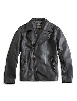 A Line Biker Jacket by Lucky Brand in Arrow