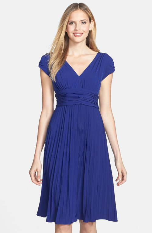 Ruched Matte Jersey Dress by Ivy & Blu in Crazy, Stupid, Love.