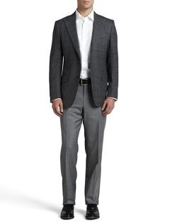 Windowpane-Check Hopsack Sport Coat by Ermenegildo Zegna in Unbroken
