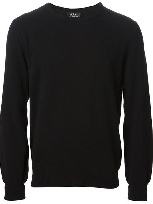 'Simon' Crew Neck Sweater by A.P.C. in Contraband
