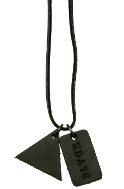 The Trinity Leather Dog Tag Necklace by Black Scale in Magic Mike XXL