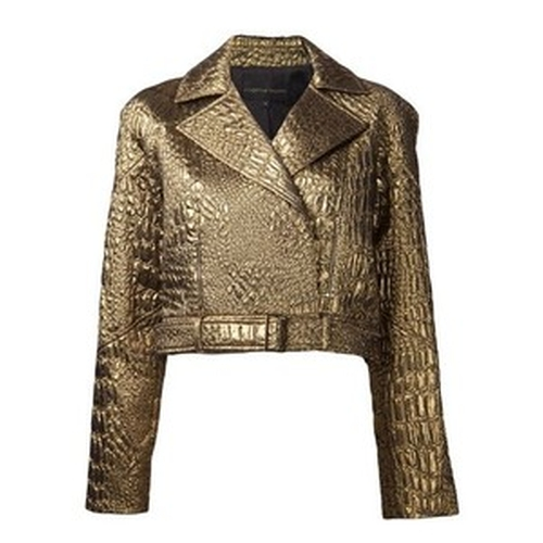 Crocodile Effect Brocade Biker by Christian Siriano in Empire