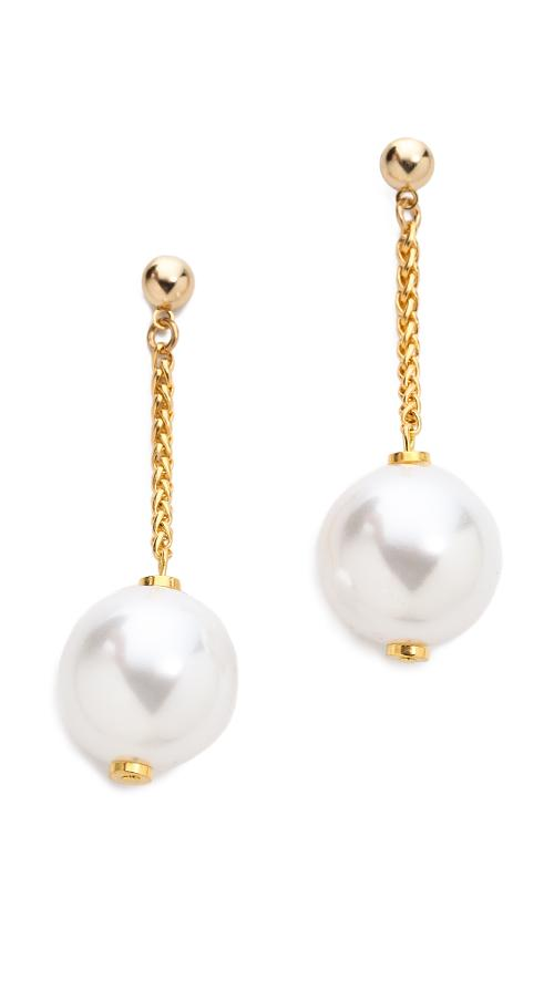 Drop Imitation Pearl Cup Earrings by Kenneth Jay Lane in Dolphin Tale 2
