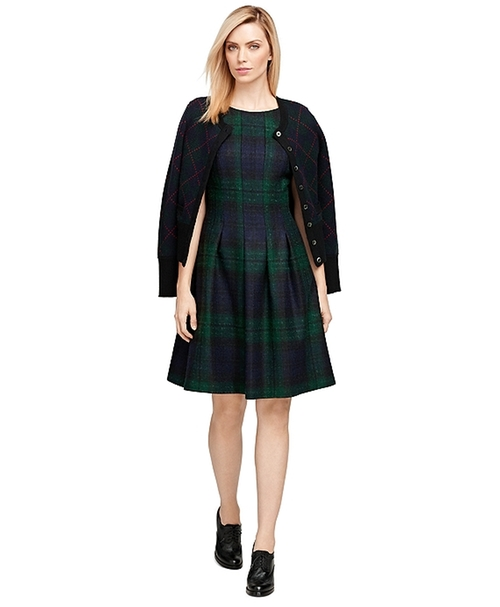 Wool Plaid Dress by Brooks Brothers in Scream Queens - Season 1 Episode 13