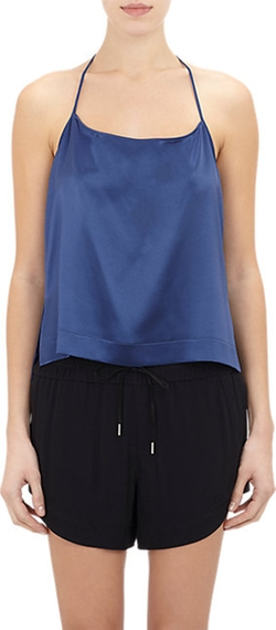 Silk Cropped Camisole Top by Helmut Lang in Vacation