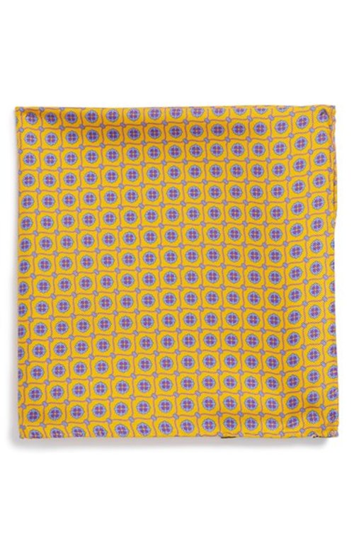 Silk Pocket Square by Ted Baker London in Get Hard