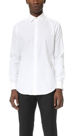 Dover Tuxedo Shirt by Theory in The Living Daylights