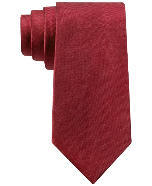 Sapphire Solid Slim Tie by Michael Kors in Unfinished Business