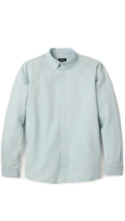 Washed Denim Shirt by A.P.C. in The Gunman
