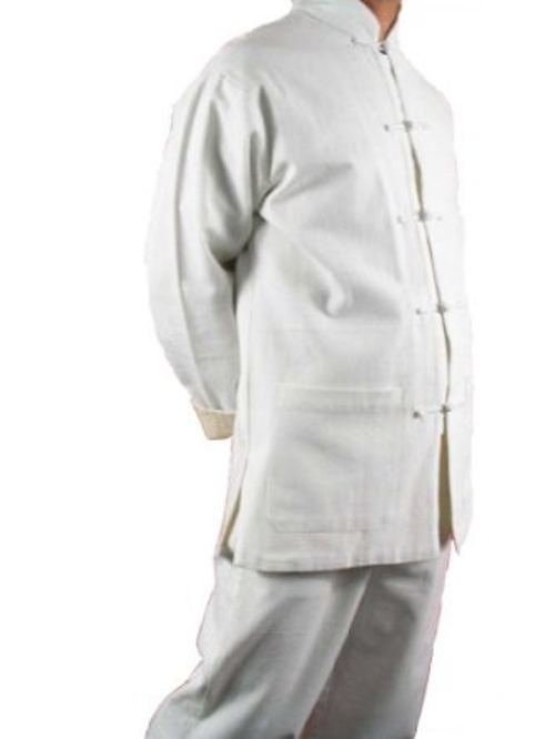 Fine Linen White Kung Fu Martial Arts Tai Chi Uniform by Interact China in Man of Tai Chi
