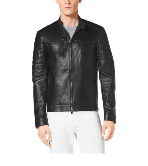 Zip-Front Leather Jacket by Michael Kors Mens in American Horror Story - Season 5 Episode 3
