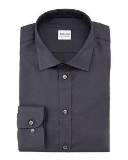 Solid Neat Dress Shirt by Armani Collezioni in Brick Mansions