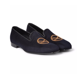 Leather-Trimmed Cashmere Slippers by Kingsman + George Cleverley in Kingsman: The Secret Service