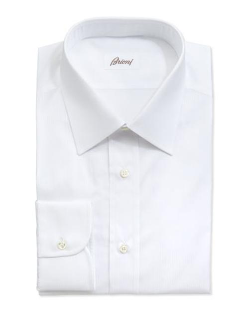 Tonal Shadow-striped Dress Shirt by Brioni in The Other Woman