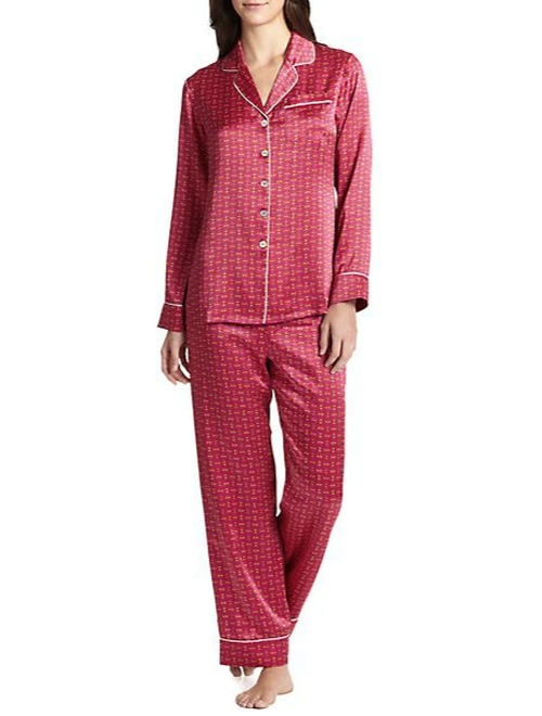 Printed Silk Satin Pajama Set by Olivia Von Halle in Black-ish - Season 2 Episode 9