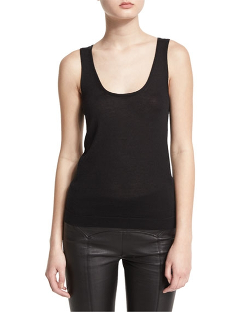 Soft Scoop-Neck Tank Top by Joan Vass in New Girl