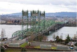 Portland, Oregon by I5 Bridge in Wild