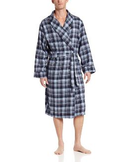 Men's Flannel Robe by Dockers in And So It Goes