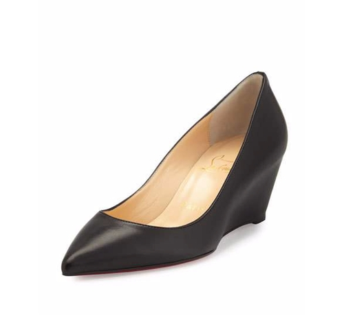 Pipina Leather Wedge Pumps by Christian Louboutin in Miss Sloane