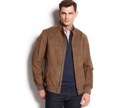 Microsuede Bomber Jacket by Tasso Elba in The Place Beyond The Pines