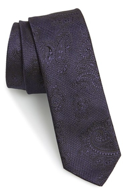 Paisley Woven Silk Tie by Hugo in The Mindy Project