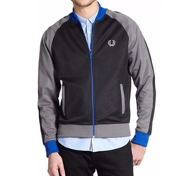 Cotton-Blend Colorblock Track Jacket by Fred Perry in Modern Family