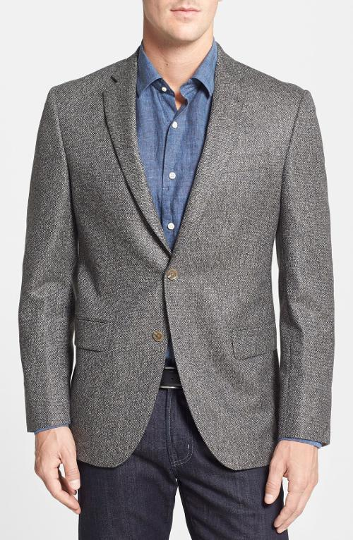 Connor Classic Fit Tweed Sport Coat by David Donahue in Warm Bodies